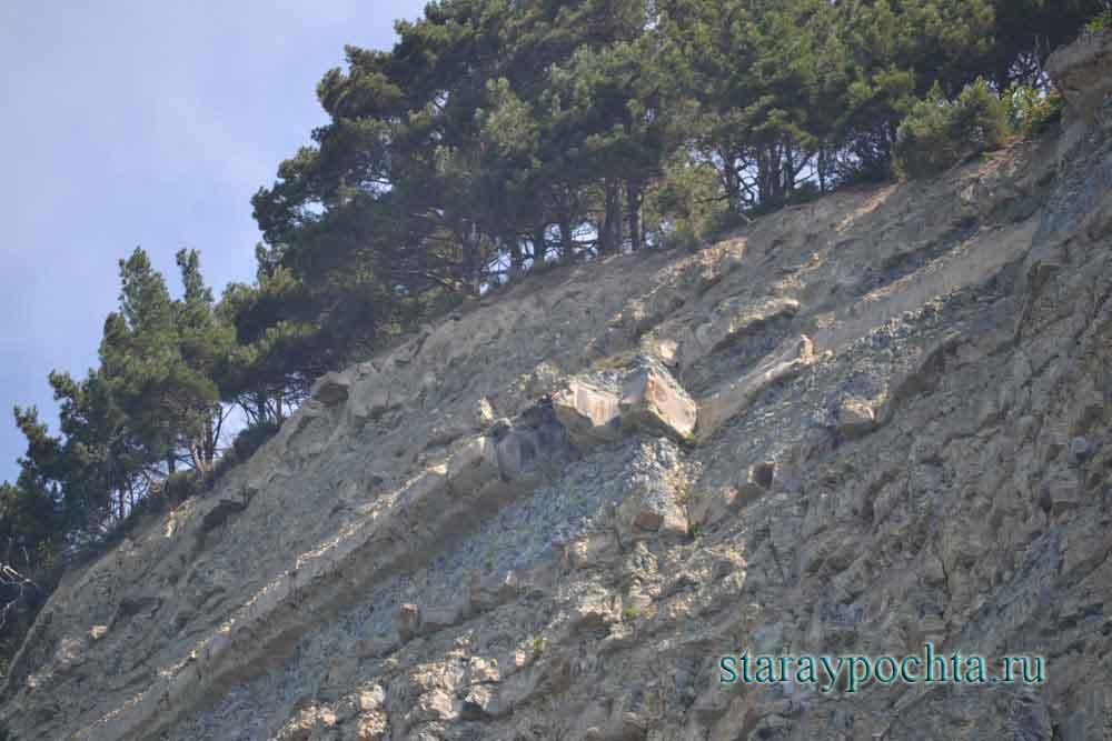 Скалистый берег у пос. Прасковеевка. Фото (471) Ю. Зотов, 2013